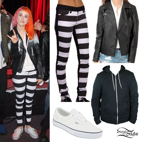 e2a52344209981 Hayley Williams  Horizontal Striped Jeans