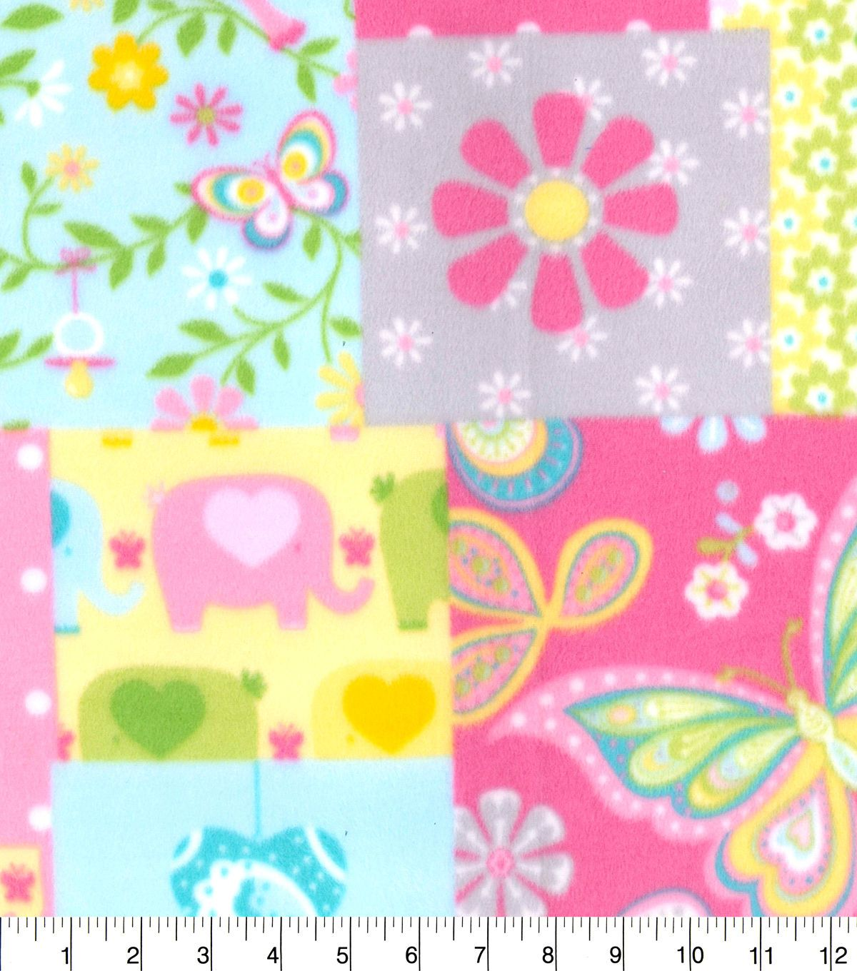 Nursery fleece fabric