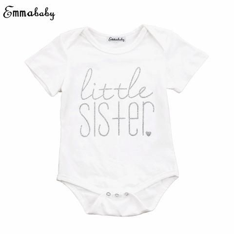 840b0cb6 Emmababy Cute Kids Boys Big Brother Cotton Short Sleeve Tops T-shirt Baby  Girls Little Sister Bodysuit