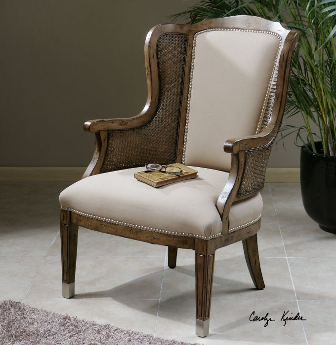 uttermost chair  furniture high back accent chairs
