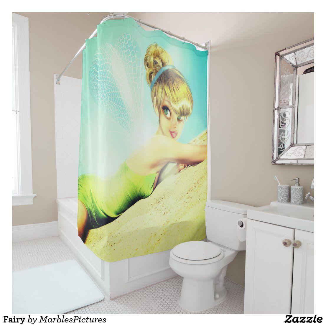 Fairy Shower Curtain Zazzle Com In 2020 Shower Curtain