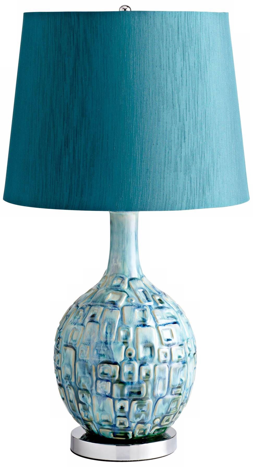 Jordan Ceramic Teal Table Lamp   #X6331 | Lamps Plus