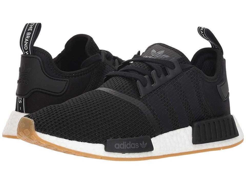 Adidas Originals Nmd R1 Men S Running Shoes Black Black Gum 3 In
