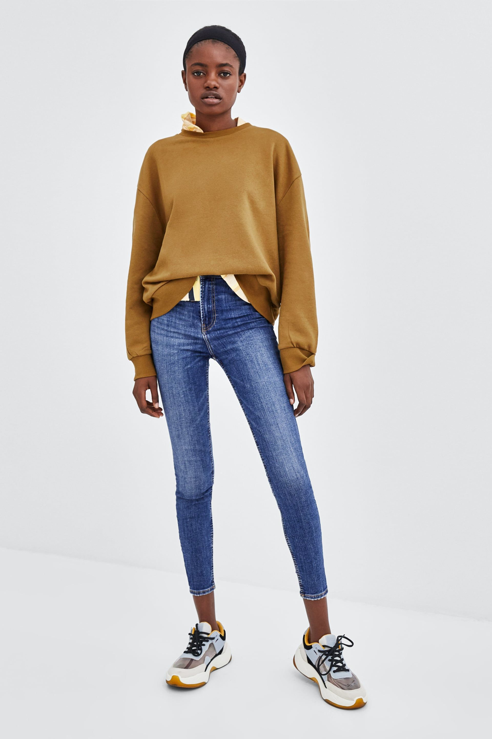 "d6189711 Image 1 of SUPER HI-RISE SKINNY ""SCULPT"" JEANS from Zara 