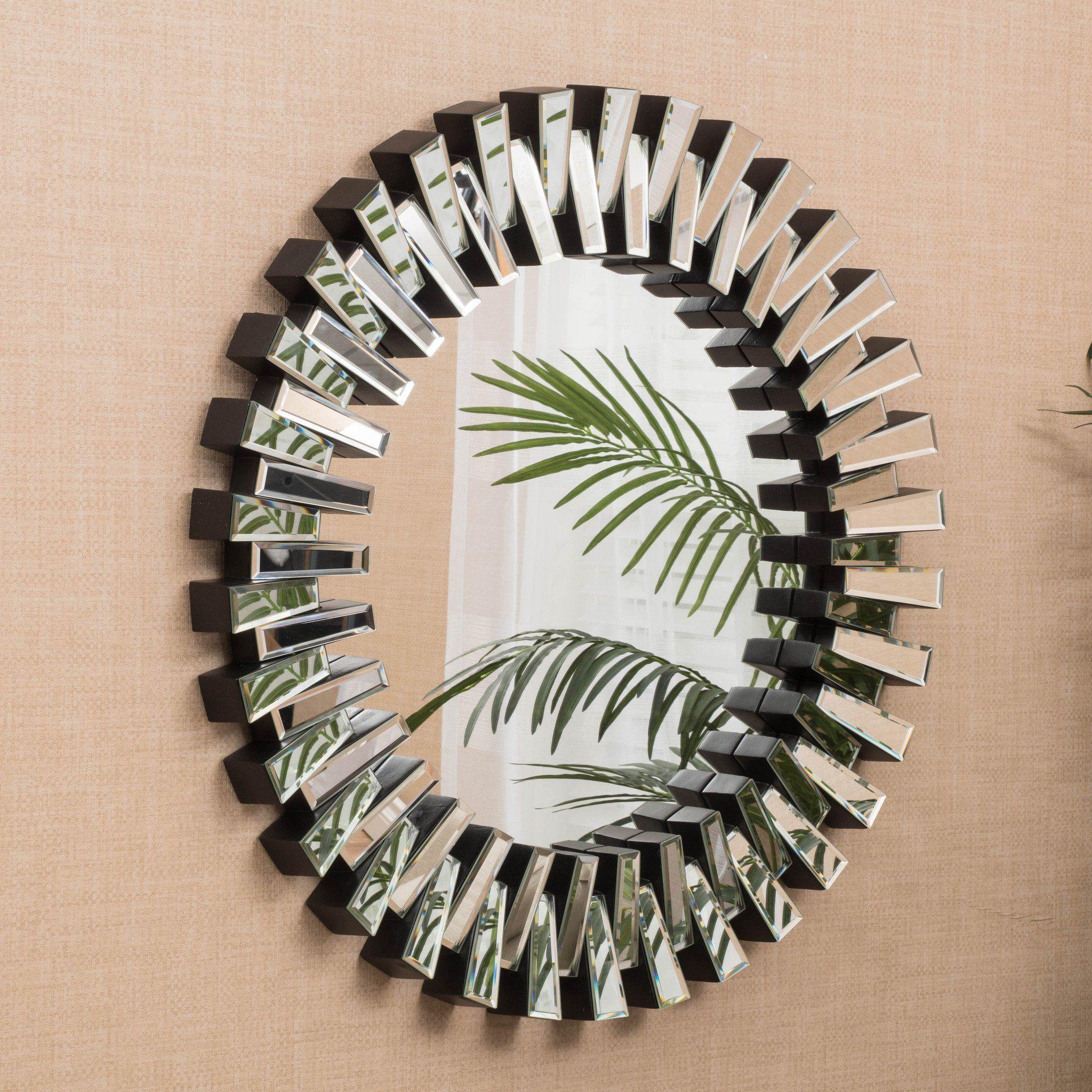 detroit circular wall mirror round wall mirror dot bo on mirror wall id=14597