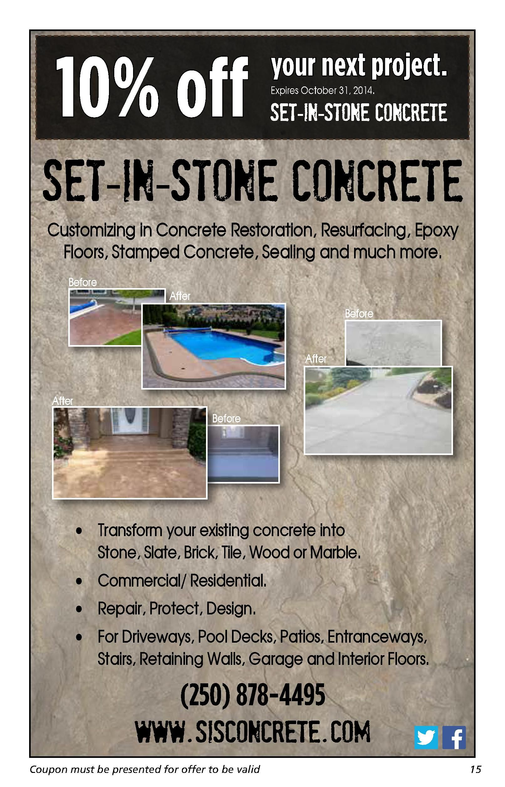 Set in Stone Concrete 10% off special, download!