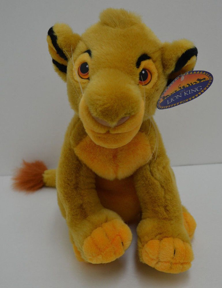 Walt Disney World Young Simba Lion King Plush Sitting Stuffed Animal