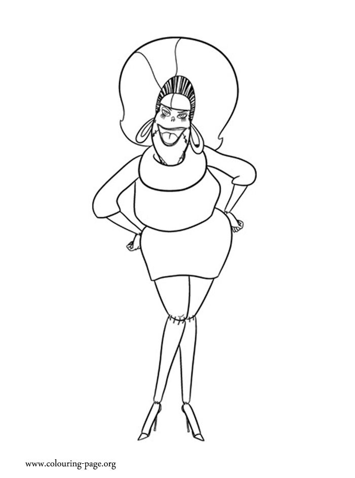 Meet Eunice! She is Frankenstein\'s wife. Have fun coloring this ...