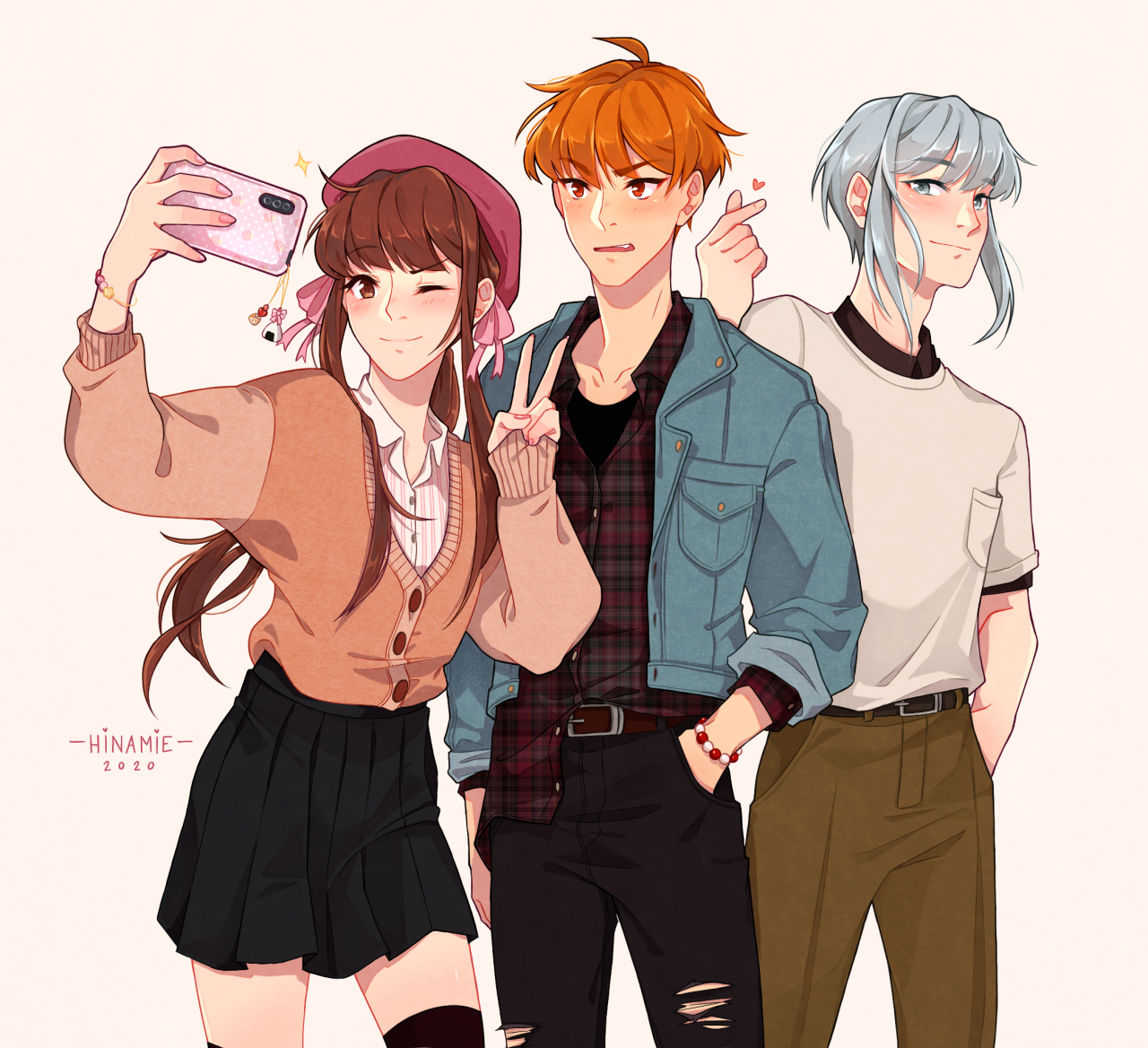 Book of Friends — hinamie group selfie to celebrate