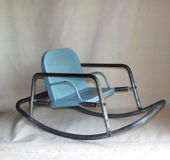 Sale Vintage Bouncy Baby Metal Rocking Chair By
