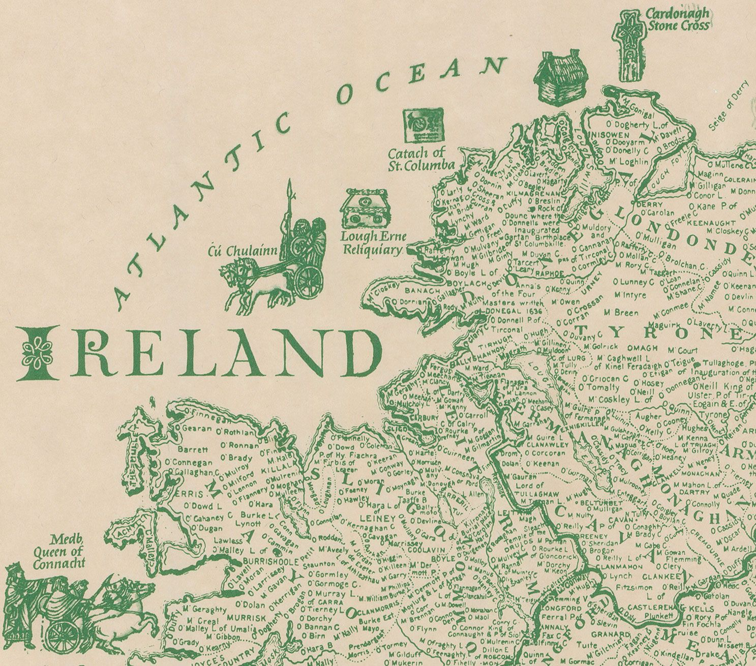 This Brilliantly Detailed Map Of Ireland Lists Over - Ancestral origins us map