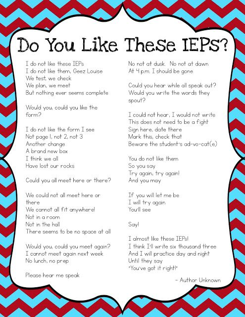 What Does Good Special Education Teaching Look Like On >> Do You Like These Ieps We Teach Special Education Special