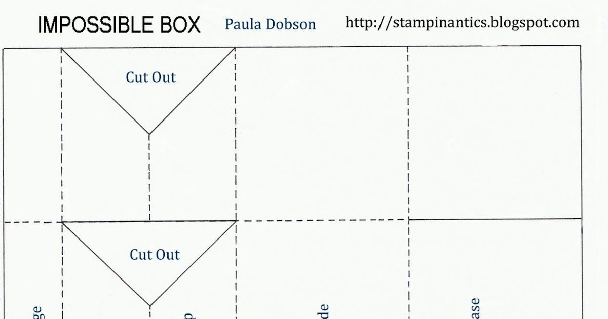 Impossible Box Tutorual Box Cards Tutorial Christmas Makes To Sell Box Template