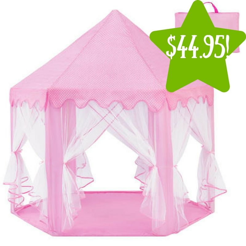 Kmart Indoor/Outdoor Pop-Up Princess Castle Play Tent Only $44.95 (Reg. $100)  sc 1 st  Pinterest & Kmart: Indoor/Outdoor Pop-Up Princess Castle Play Tent Only $44.95 ...