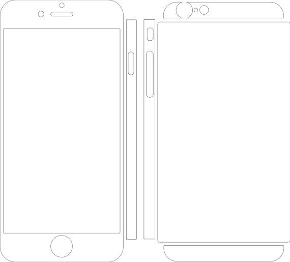 Iphone 6 Skin Template For Cutting Or Machining