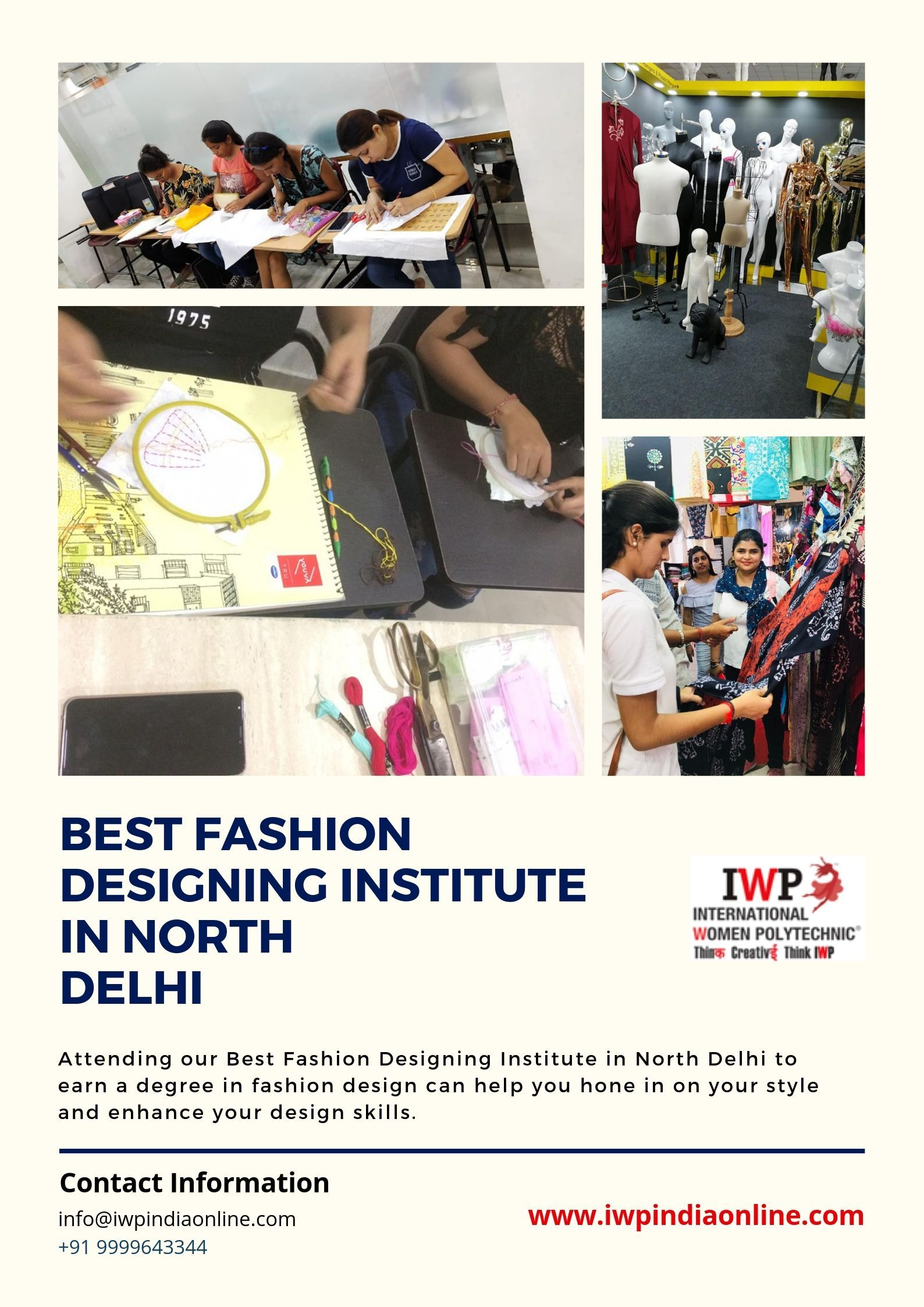 If You Are Willing To Join Best Fashion Designing Institute In North Delhi For A Bachelors Or Masters Degree Join Iwp Fashion Designing Institute Model Town