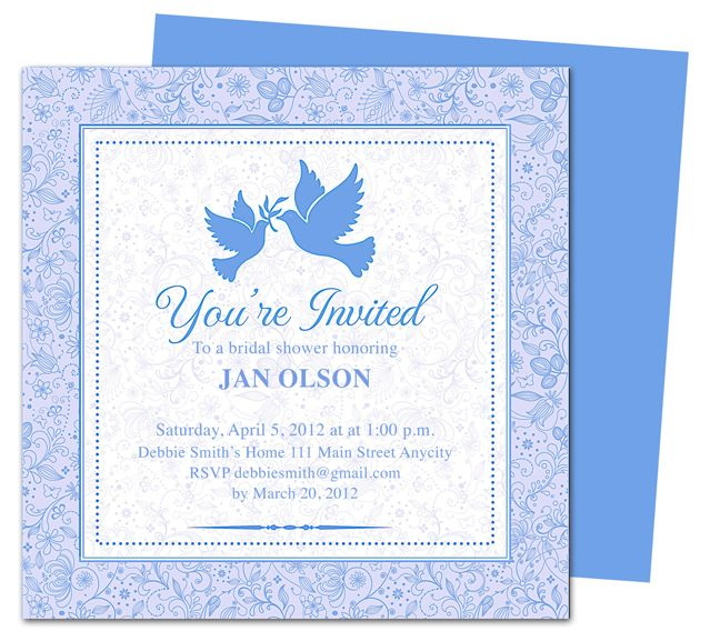 Pages Invitation Templates Free Lovebirds Bridal Shower Invitations Templateeasy To Use Wedding .