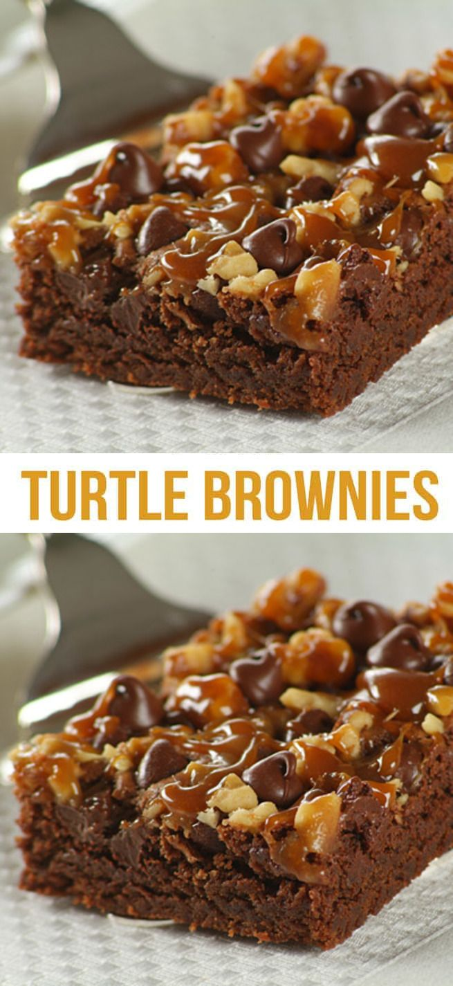 The Best Turtle Brownies