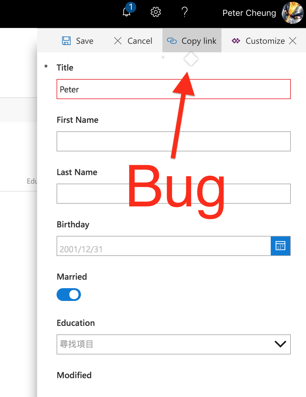 Just tried Powerapps to build form in SharePoint Online