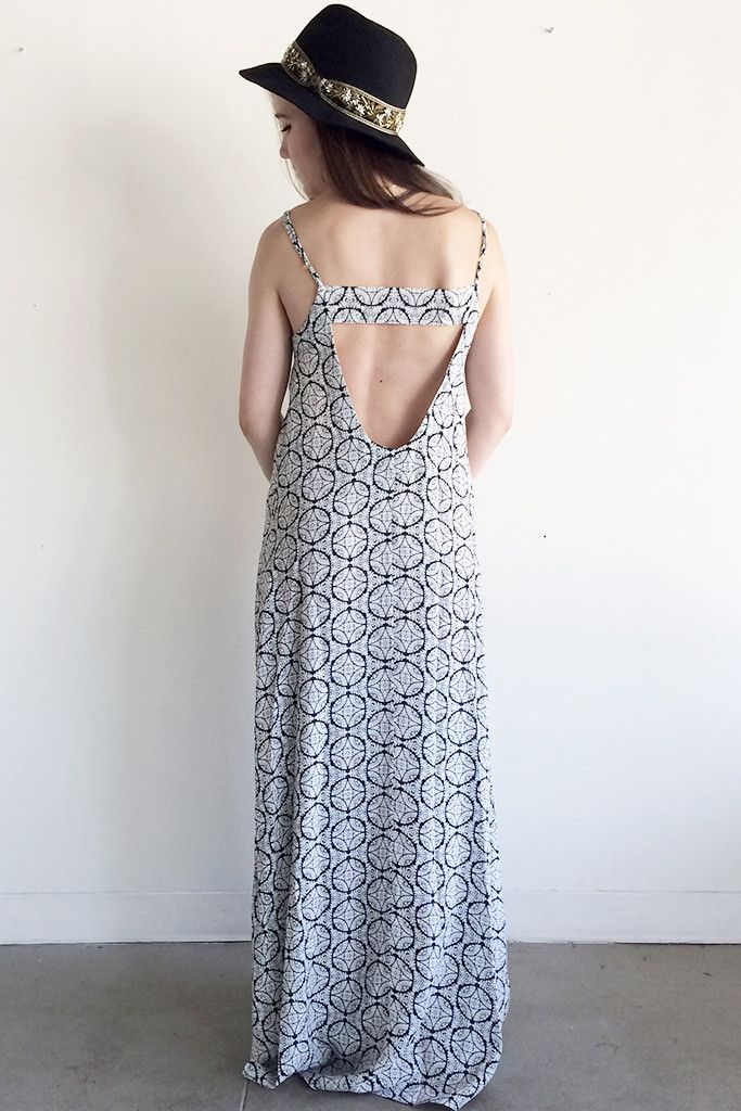 Love the back on this!! Flynn Skye Navy Gypsy Back Strap Maxi Dress