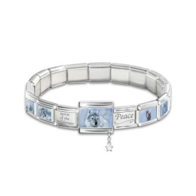 Spirit Of The Wilderness Italian Charm Bracelet