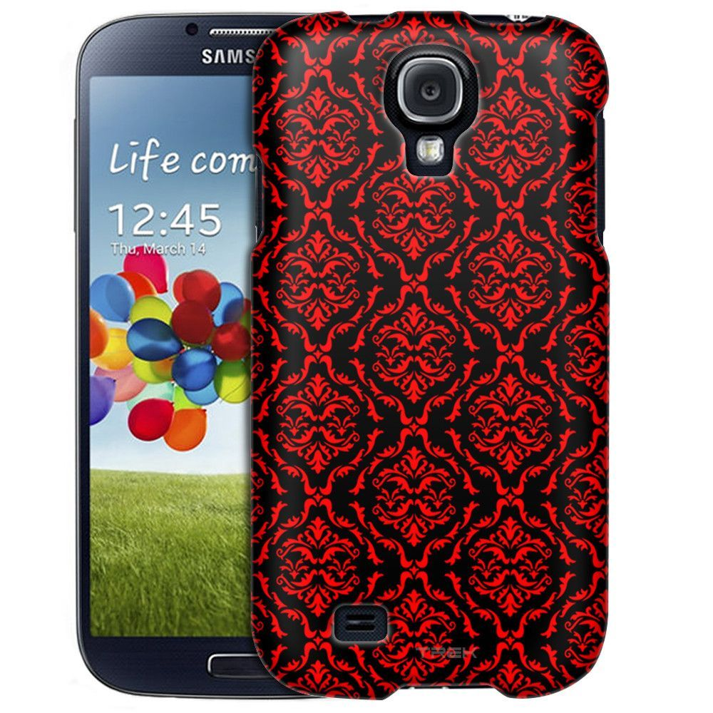 Samsung Galaxy S4 Victorian Ornate Red on Black Slim Case | Products ...