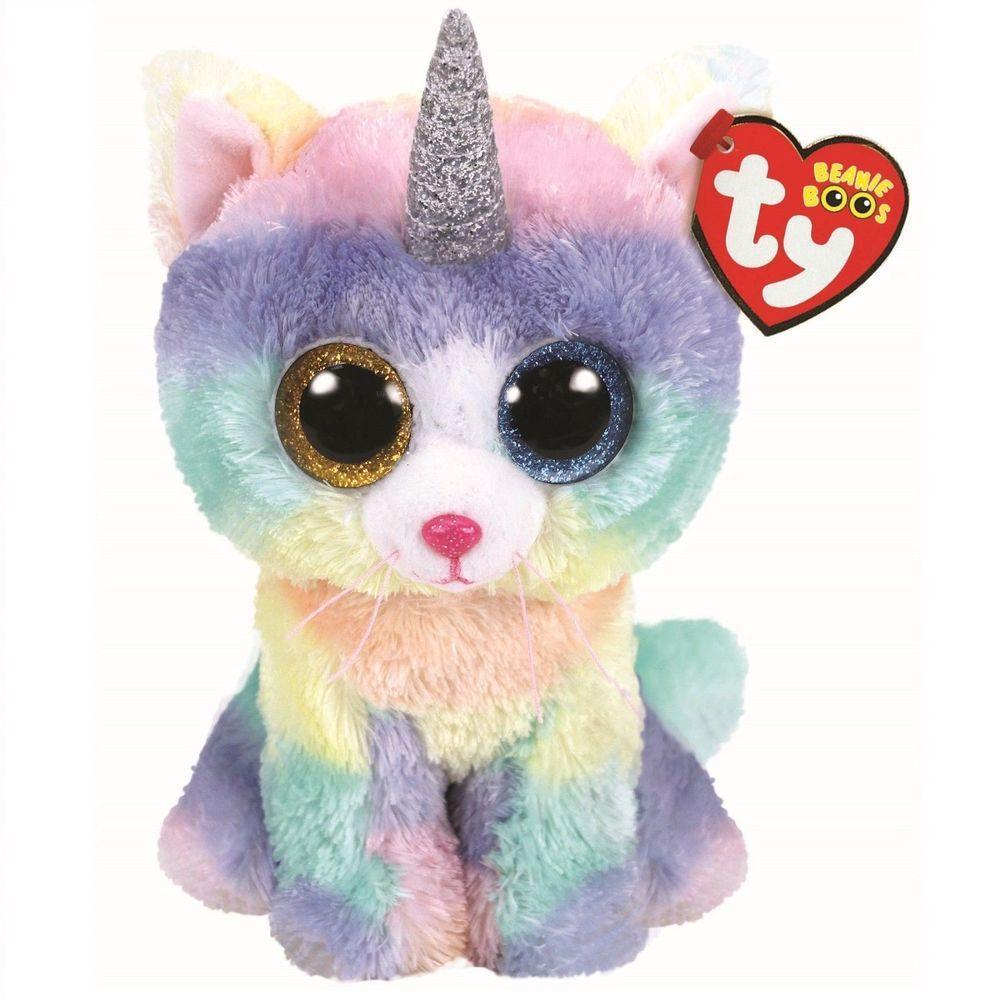 "2018 Ty Beanie Boos 6/"" HEATHER UniCat Unicorn Cat Stuffed Animal Plush MWMT/'s"