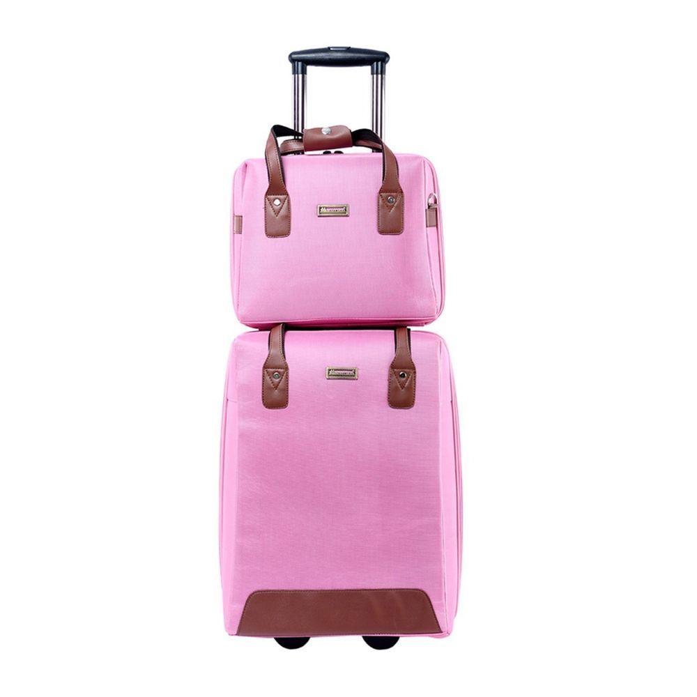 New 2pcs Suitcase Travel Bag Carry-On Rolling Duffle Bag Luggage set