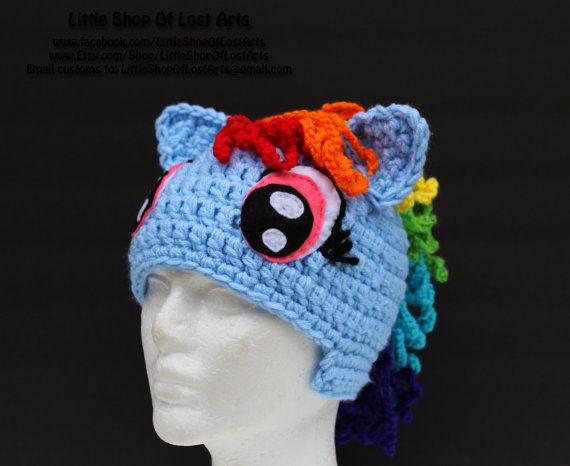 Thick Crochet Rainbow Dash My Little Pony By Littleshopoflostarts