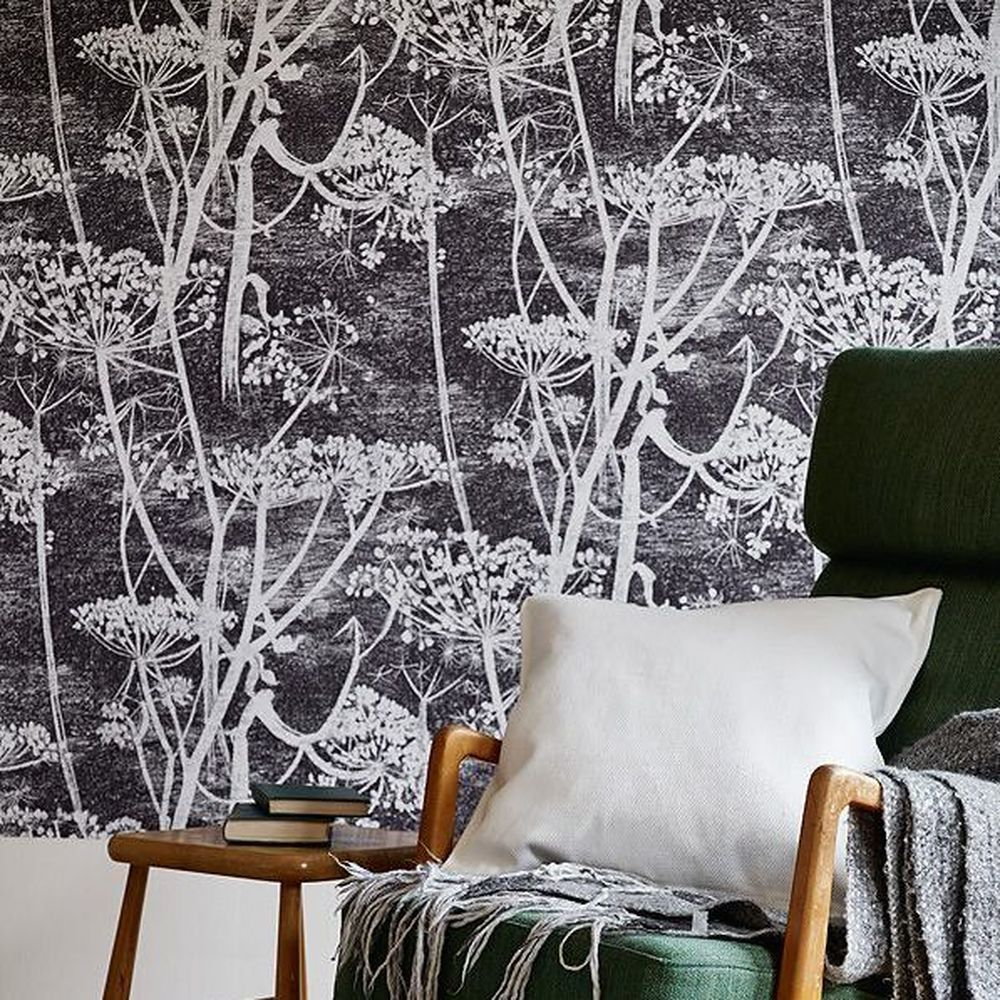 Cow parsley black in 2020 Home wallpaper, Cole and son