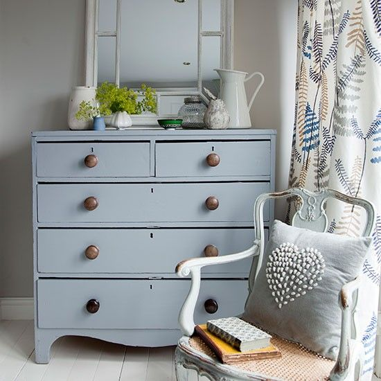 Bedroom With Pale Grey Chest Of Drawers Decorating Style At Home Housetohome