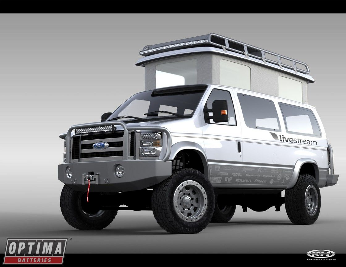 Cam douglass 2014 ford econoline e 350 4x4 sema show project van will