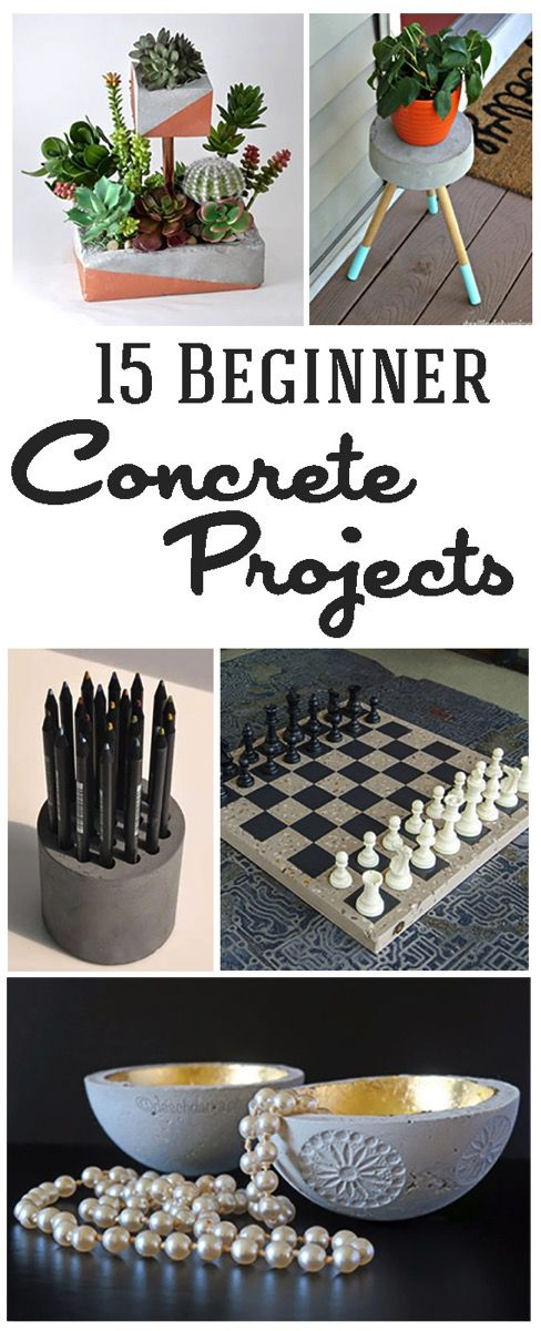 15 Easy DIY Cement and Concrete Projects