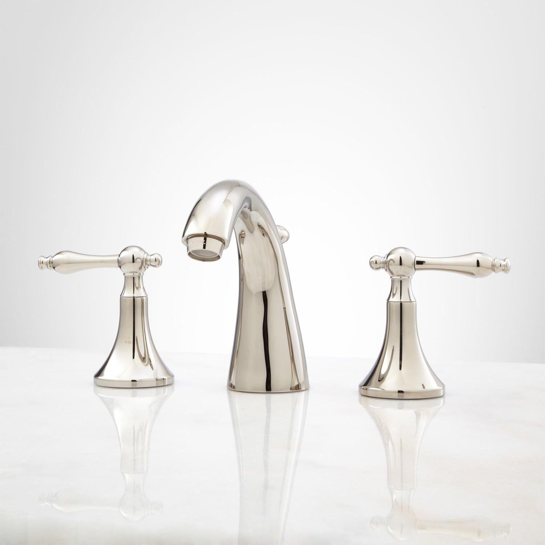 Dalles Widespread Gooseneck Bathroom Faucet | Faucet, Bathroom sink ...