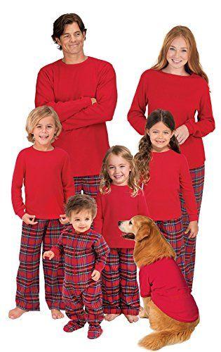 bd21e82c7c PajamaGram Red Flannel Stewart Plaid Matching Family Christmas ...