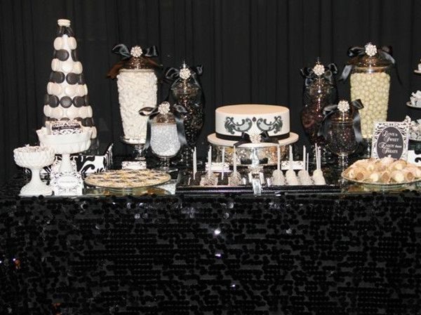 black and white candy bar buffets black and white wedding theme ideas simple yet