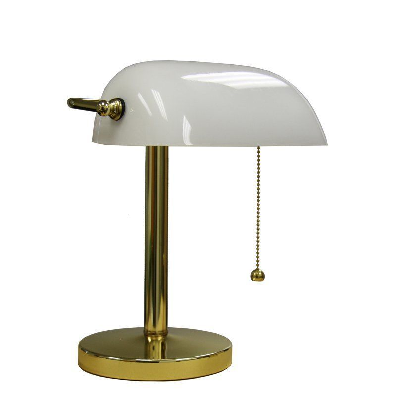 Ore International 12 5 In Bankers Lamp With Images