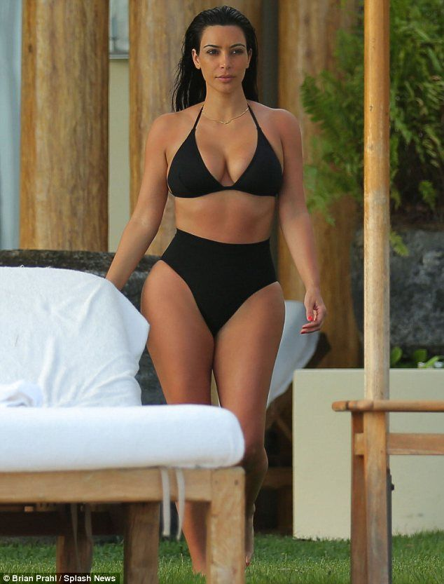 c6f8a18c8c184 Kim Kardashian cools off in daring see-through bathing suit | Bathing suits  | Kim kardashian bikini, Kim kardashian hot, Celebrity bikini bodies