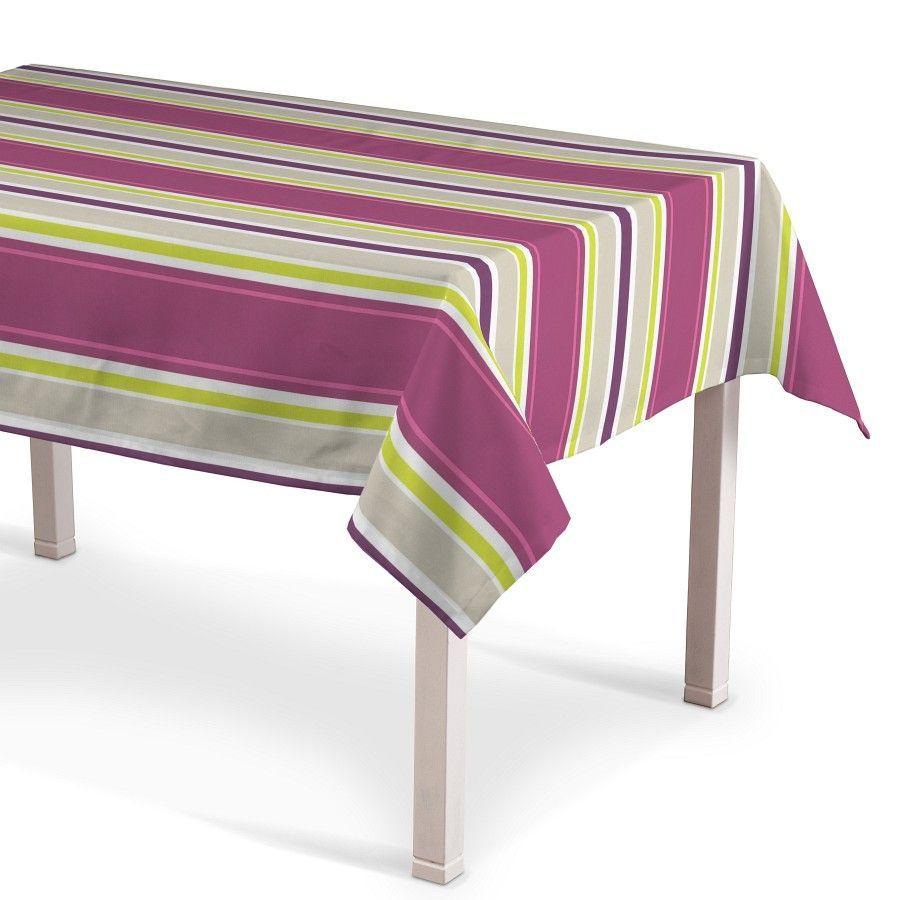 Rechteckige Tischdecke, bunte Streifen aus der Kollektion Fleur, Modell 130 x 130 cm