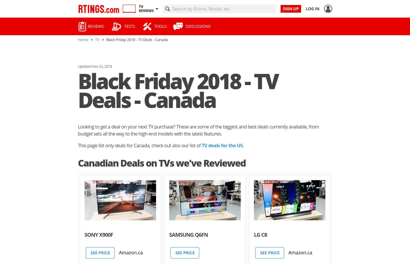 Canada Black Friday 2018 Tv Deals Tv Deals Tv Distance Calculator