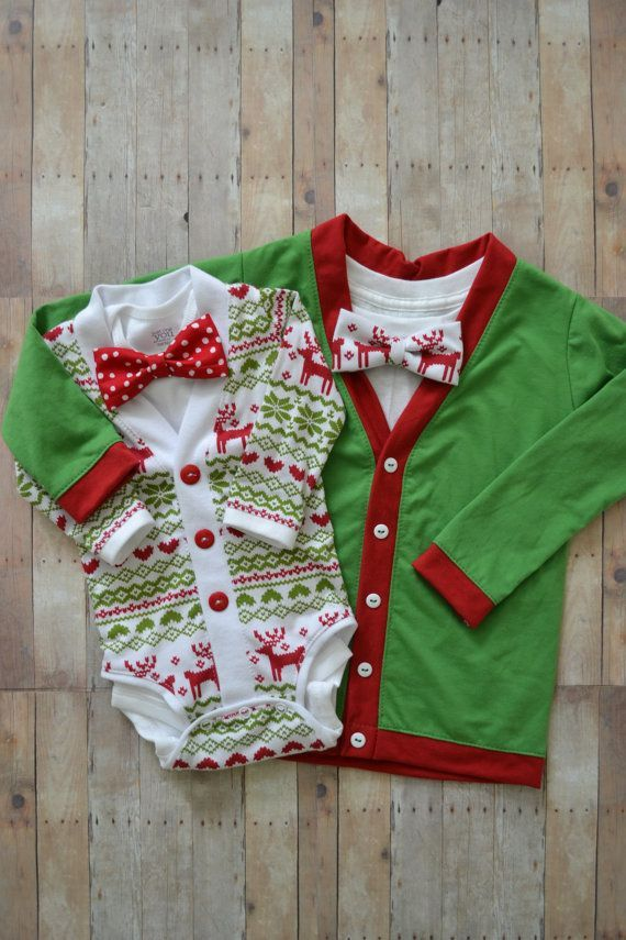 40e8d68a0 Christmas/Holiday Cardigans: Big and Little Brother Reindeer Ugly ...