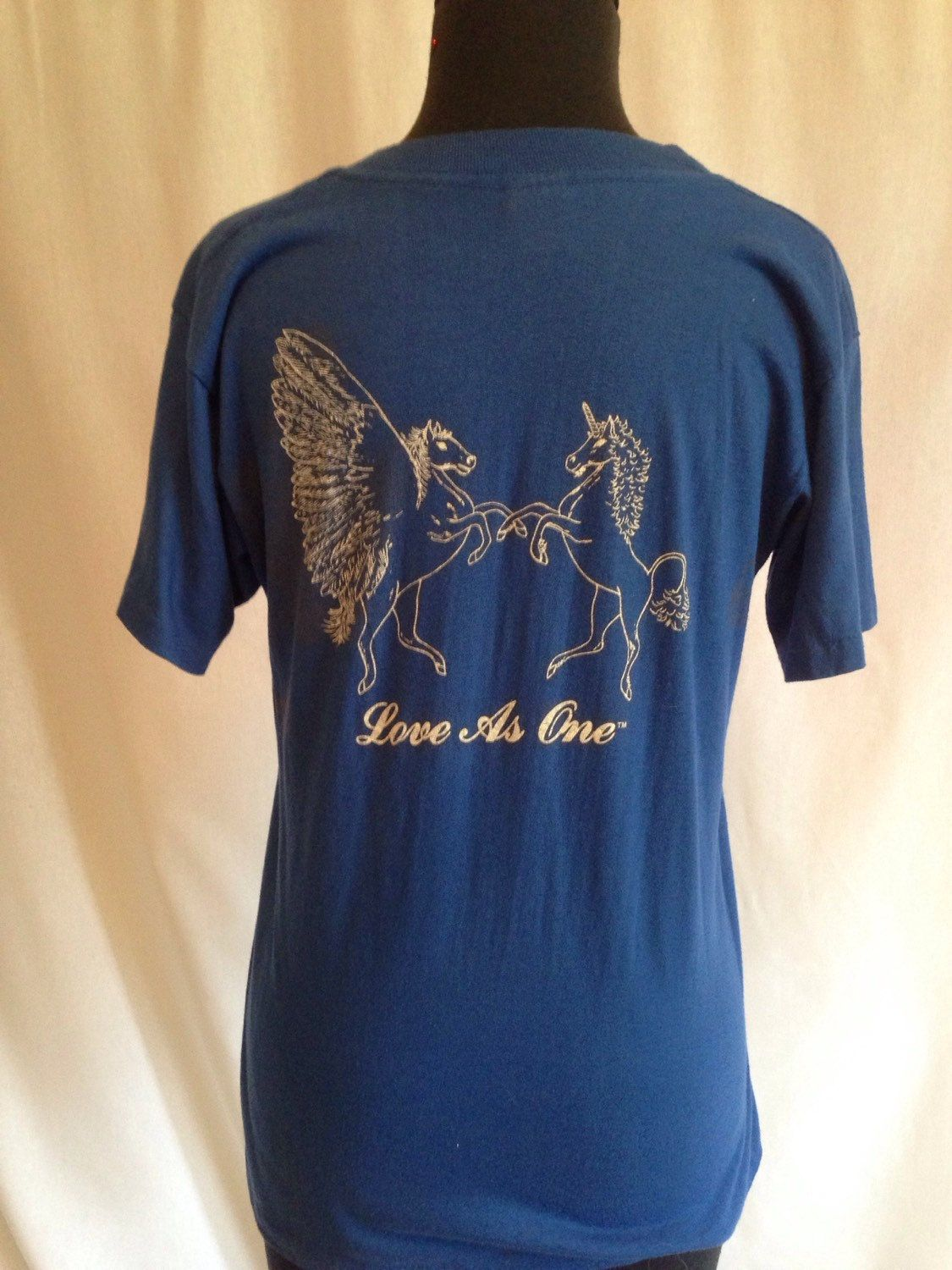 Vintage 70s 80s Pegasus and Unicorn love as one by PSYCHEDvintage