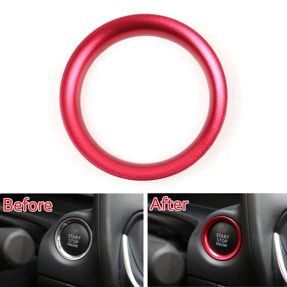Start Stop Push Button Ignition Key Hole Decoration Ring