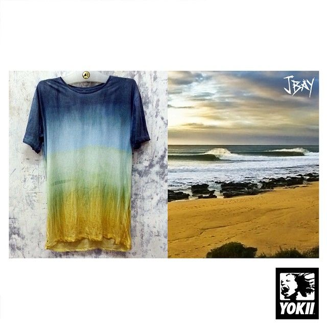 """Instagram media by yokii_studio - INspired by JBAY.""""Jeffreys Bay"""" South Africa...A perfect point break,Alive and Rich with COLOUR in both land and sea.This Tshirt being the Third of my HAND PAINTED watercolour/pigment dye series.JBAY :)))Magic"""