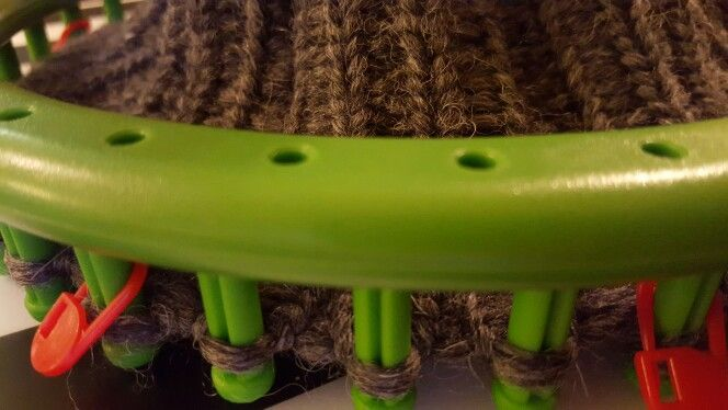 Loom knitting  obręcz dziewiarska