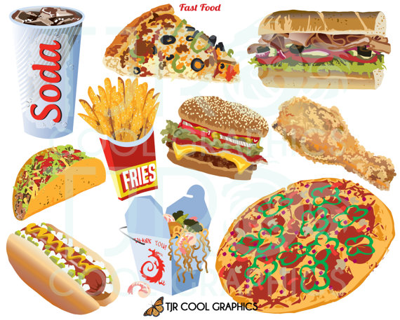 Fast Food Clip Art Food Clipart Svg Clipart Png Pizza Etsy Food Clipart Fast Food Food