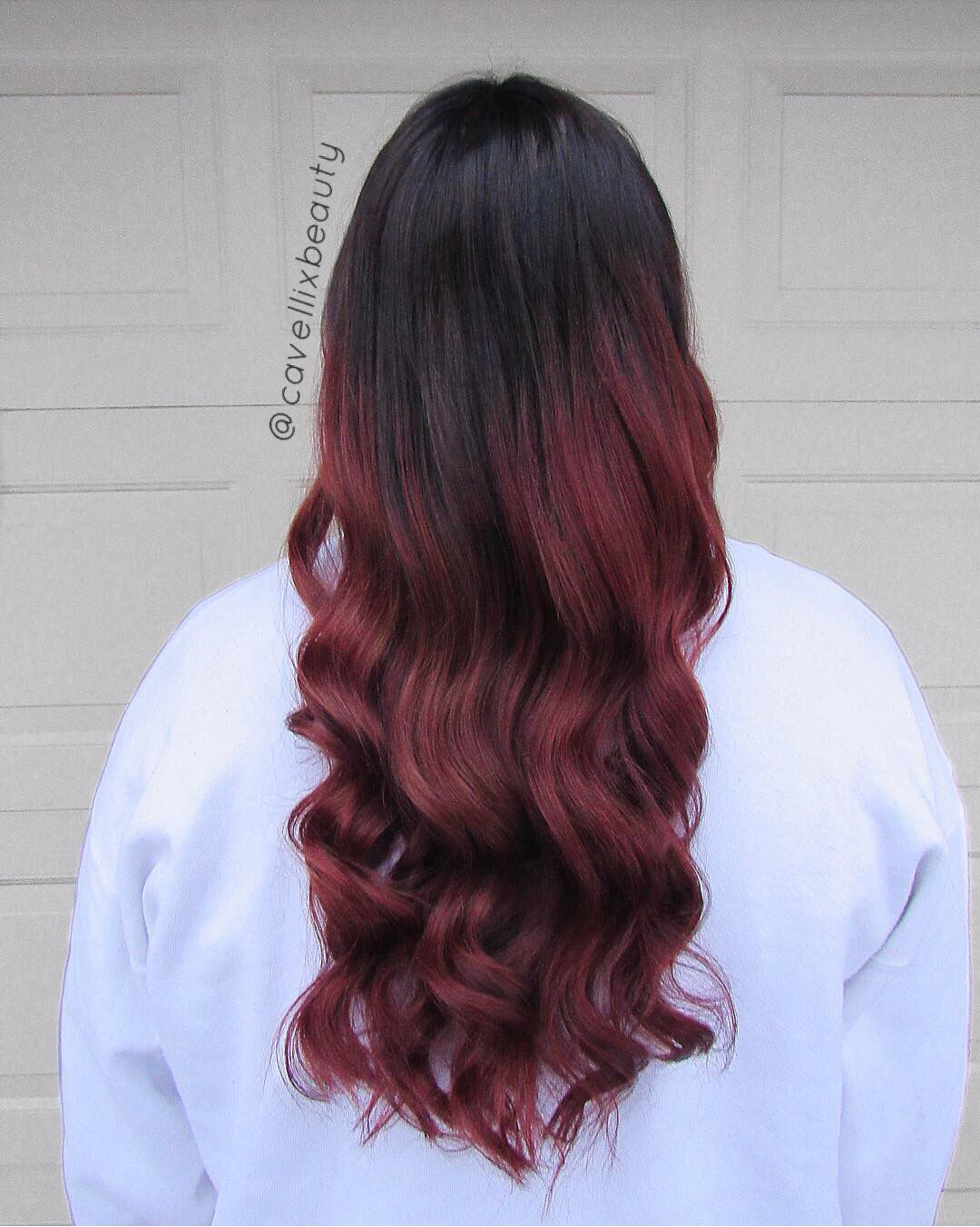 Used Rusk Products to create this pretty ombré just in