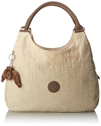 top handle bags: Kipling Bagsationl, Creme/Beige, One Size