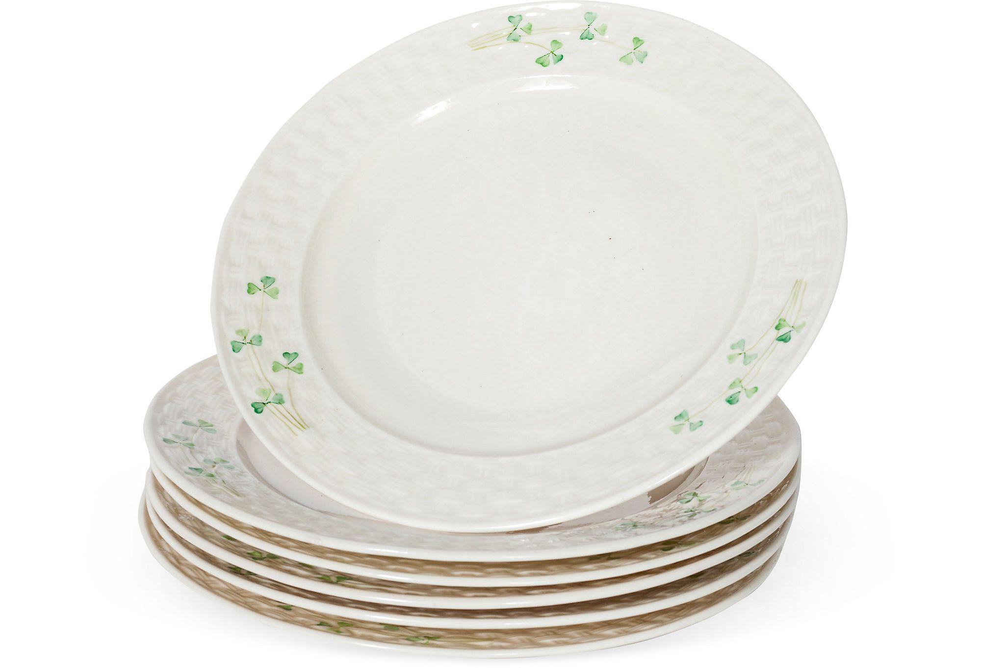 Vintage Irish Belleek Plates Set of 6 on One Kings Lane today  sc 1 st  Pinterest & Vintage Irish Belleek Plates Set of 6 on One Kings Lane today ...