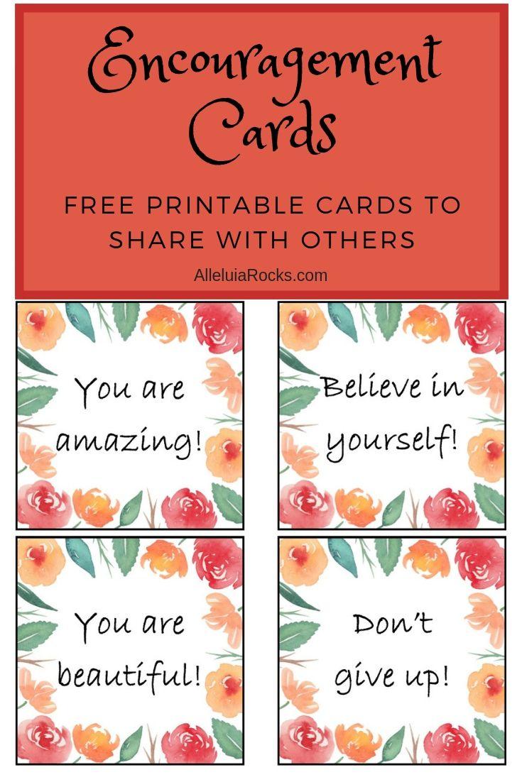 Get a set of FREE printable Encouragement Pocket Cards